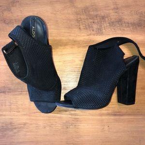 Aldo Peep Toe Block Heels